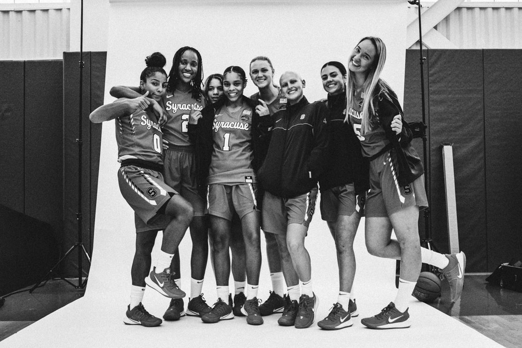 members of Syracuse Women's Basketball