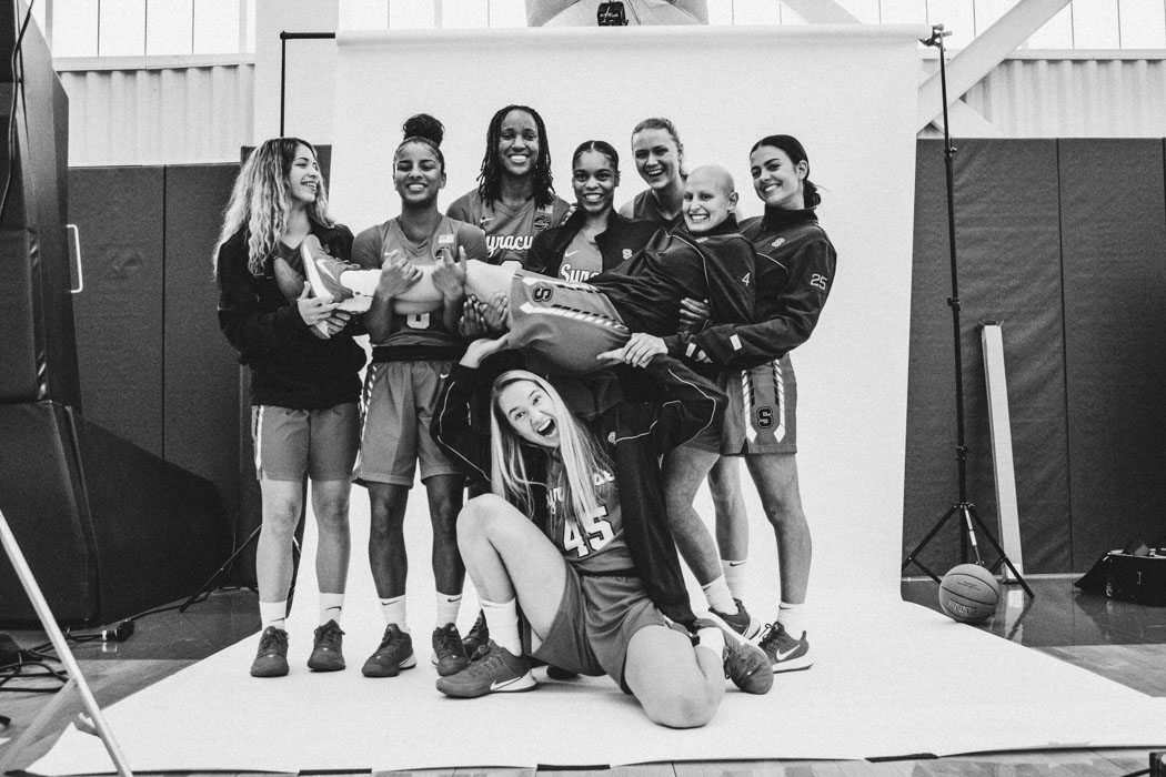 Syracuse Women's Basketball players pose